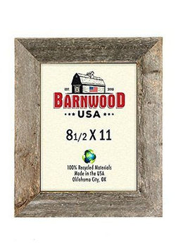 BarnwoodUSA Rustic 8.5x11 Picture Frame With 2