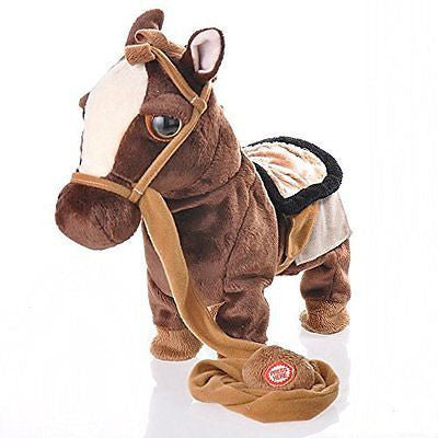 HiMango Children Electronic Pets Walking Horse Leash Remote Controlled Plush