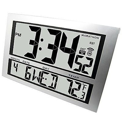 MARATHON CL030025 Commercial Grade Jumbo Atomic Wall Clock with 6 Time Zones