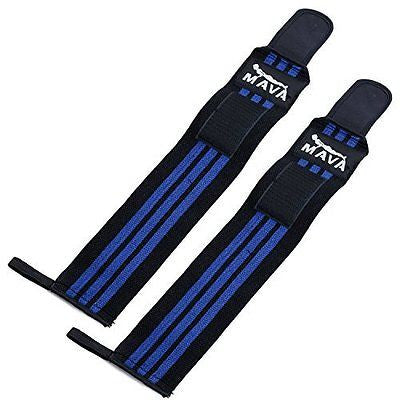 Mava Sports Wrist Wraps (1 Pair/2 Wraps) for Training & Workouts - 14 inch long/