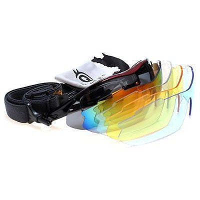Polarized Cycling Sunglasses Bike UV Glasses Eye Wear Color Red New!!