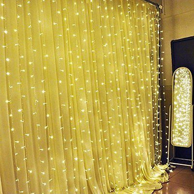 Leaf LED String Curtain Lights - 9.8 Feet - Warm White
