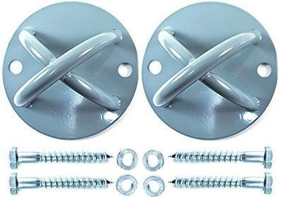 2 Pack - Suspension Strap Trainer Mount Anchor Bracket Hook - Wall & Ceiling