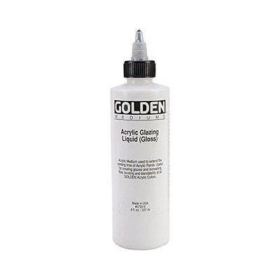 Acrylic Paint,Golden Acrylic Glazing Liquid Gloss - 8 oz Bottle