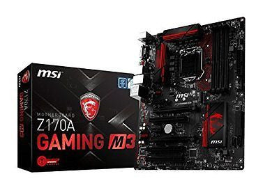 MSI Enthuastic Gaming Intel Z170A  LGA 1151 DDR4 USB 3.1 ATX Motherboard
