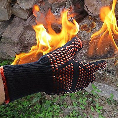 Barbecue Gloves Mit Pot Holder Gloves,Cut Resistant Grill Accessories Garden BB