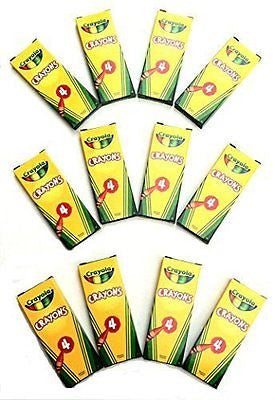 12 Boxes Crayola? 4-ct. Crayon Party Favor Pack