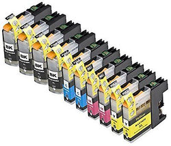 10 Pack Compatible LC101 , LC103 4 Black, 2 Cyan, 2 Magenta, 2 Yellow