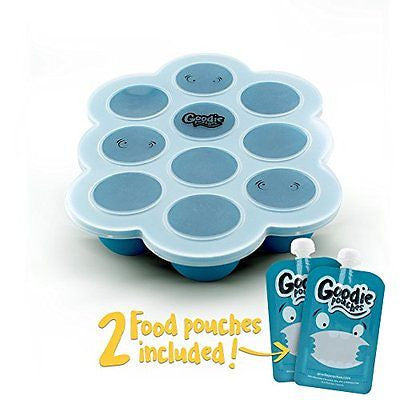 Silicone Freezer Tray for Baby Food Storage - With Bonus 2 Reusable Pouches