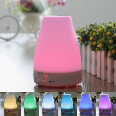 7 Color Changing LED Lamps, Mist Mode Adjustment and Waterless  for Home Office