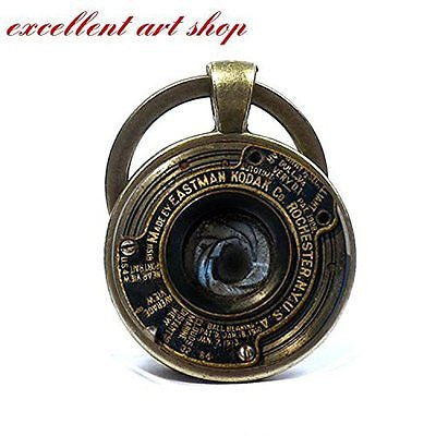 Vintage Camera Lens Keychain, Fine Art Keyring, Camera Lens Photo Key Ring