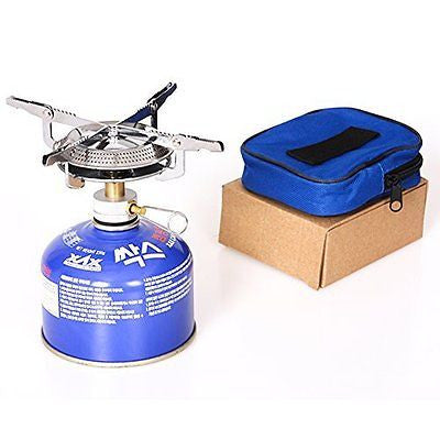 Progre?Outdoor Portable Camping Stove Butane Propane Burner for Gas Canisters C