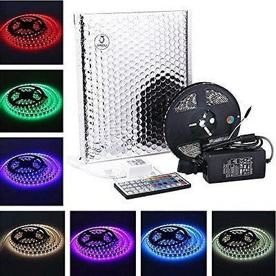 SINOU 5-Meter Waterproof Flexible Color Changing RGB SMD 5050 300 LEDs Light
