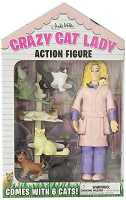 Accoutrements Crazy Cat Lady Action Figure Set