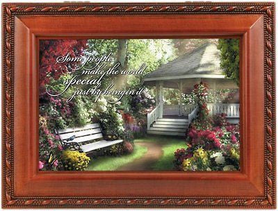 Cottage Garden Special World Traditional Woodgrain Music Box Plays World