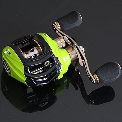 Noeby Low Profile Baitcasting Fishing Reel with 10+1 Ball Bearings 6.3:1 Gear
