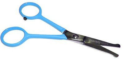 "TINY TRIM ball tipped small pet grooming scissor 4.5 inch 4.5"" EAR NOSE FACE PAW"