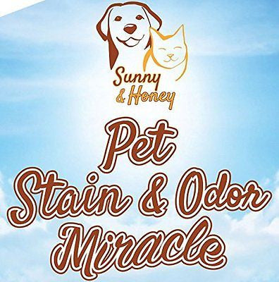 Pet Stain & Odor Miracle - Enzyme Cleaner for Dog and Cat Urine, Feces, Vomit, D