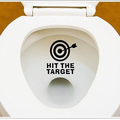 Hatop DIY Arrow&Target Toilet Seat Bathroom Sticker Home Refrigerator Wall
