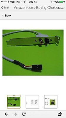 SPDIF RCA Out Plate Cable Bracket