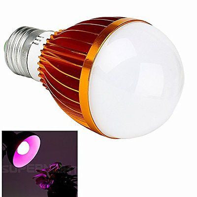 SUPERNIGHT? Horticulture E27 5W LED Plant Grow Light Bulb for Flowering Plant