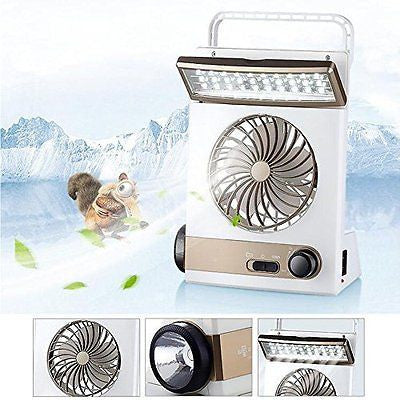 3 in 1 Multi-functional Solar Cooling Table Fans with Eye-Care LED Table Lamp