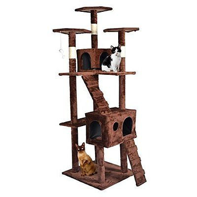 BestPet CT9073 Cat Tree Condo Furniture, Surface Material Faux Fur, 73-Inch