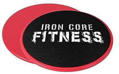 2 x Dual Sided Gliding Discs Core Sliders by Iron Core Fitness | Ultimate Core