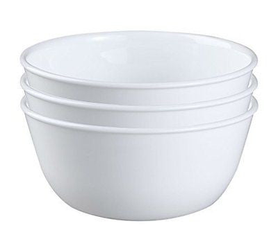 28-Ounce Super Soup/Cereal Bowl Winter Frost White (Set of 3)