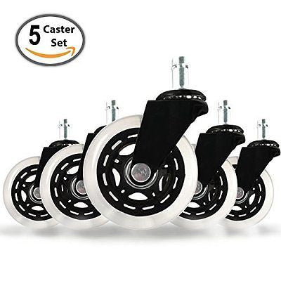 (SET OF 5) Office Addiction - Rollerblade Office Chair Replacement Wheels
