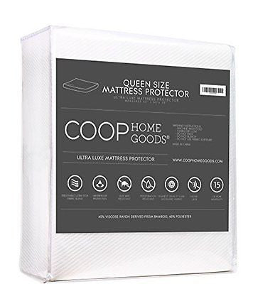 Ultra Luxe Bamboo derived Viscose Rayon Mattress Pad Protector Cover by Coop
