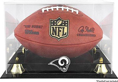 St. Louis Rams Golden Classic Football Display Case with Mirror Back