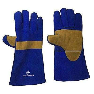 WELDING GLOVES by US Safe Sparks Reinforced Palm Kevlar Stiching Leather Glov