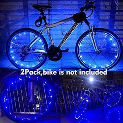 2 Pack of Yacoto Water Resistant Cool LED Bicycle Bike Cycling Wheel Light