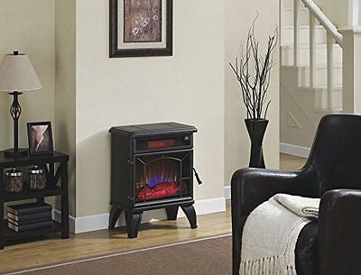 Duraflame Mason Freestanding Electric Infrared Quartz Fireplace Stove, Black
