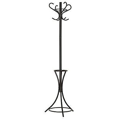 GrayBunny GB-6808 Metal Coat Rack Hat Stand Umbrella Holder Hall Tree Black