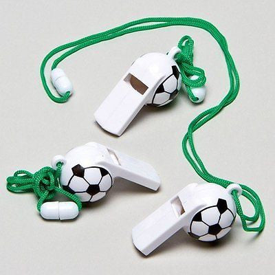 soccer Whistles Perfect Party Bag Filler for Children (Pack of 6)