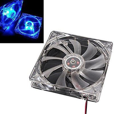 Gotd 120mm 4 Blue LED Case Fan for Computer Cases, CPU Coolers, and Radiators