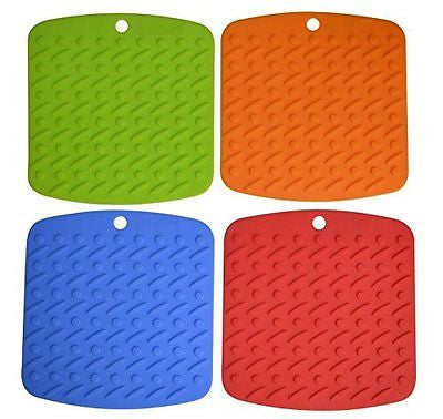 Sokos Silicone Pot Holder, Trivet Mat, Jar Opener,Spoon Rest and Garlic Peeler