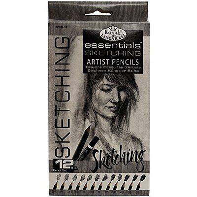 Royal & Langnickel Essentials Sketching Pencil Set, 12-Piece