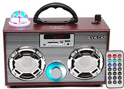 Sykik SP2021BT Bluetooth Boom Box with SD/MMC/USB FM Radio Disco Light