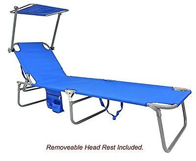 Deluxe 3 pos Lay Flat Steel Beach Chaise