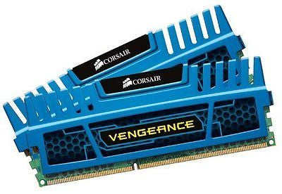 Corsair Vengeance Blue 8 GB (2X4 GB) PC3-12800 1600mHz DDR3 240-Pin SDRAM Dual