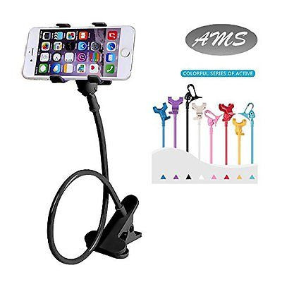 AMS Universal Cell Phone Holder Clip Holder Lazy Bracket Flexible Long Arms