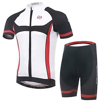 Baleaf Men's Short Sleeve Cycling Jersey 3D Padded Short Set Knight Style XXXL