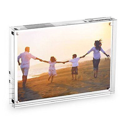 "HESIN? 5""X7""Clear Acrylic Magnet Photo Frame, Double Sided Picture frame"