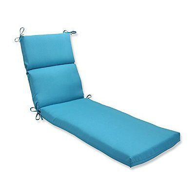 Pillow Perfect Outdoor Veranda Turquoise Chaise Lounge Cushion