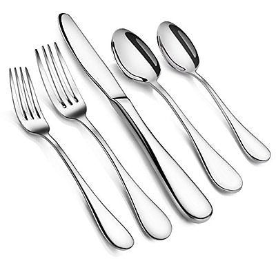 Artaste 56389 Rain 18/10 Stainless Steel Flatware 20-Piece Set Service for 4