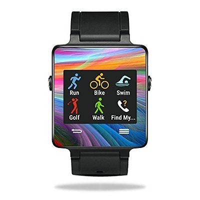 MightySkins Protective Vinyl Skin Decal for Garmin Vivoactive Smartwatch cover