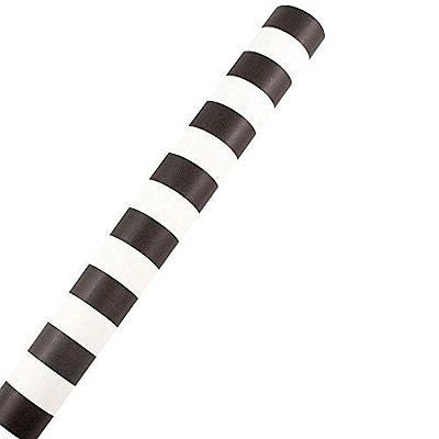 JAM Paper? Design Wrapping Paper - 24 Sq Ft - Matte Black & White Stripe